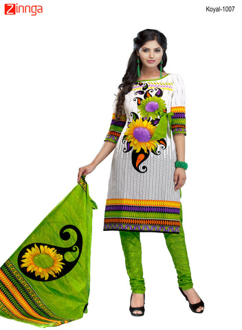 Multi Color Cotton  Stitched Salwar  - Koyal-1007