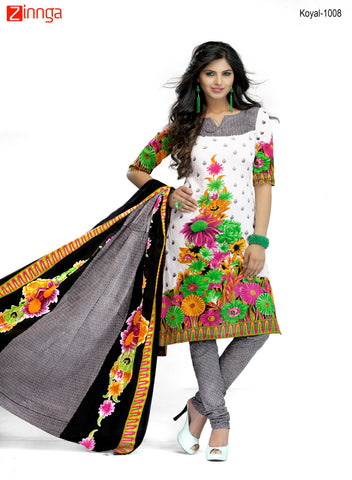 Multi Color Cotton  Stitched Salwar  - Koyal-1008