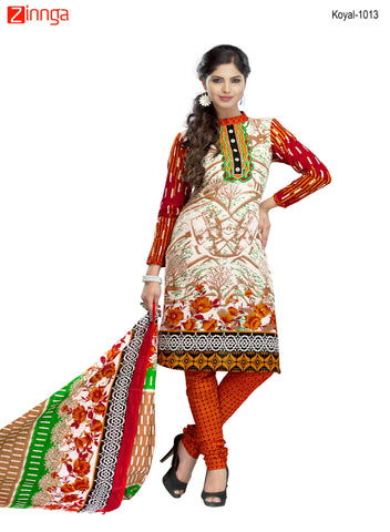 Multi Color Cotton  Stitched Salwar  - Koyal-1013