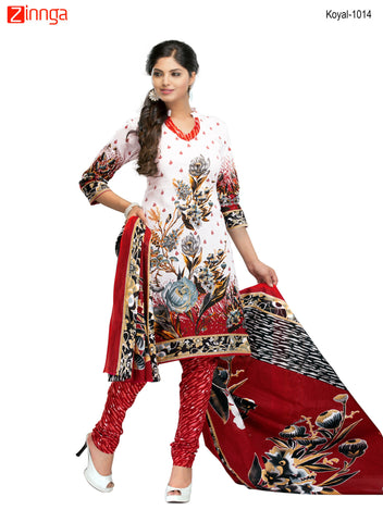 Multi Color Cotton  Stitched Salwar  - Koyal-1014