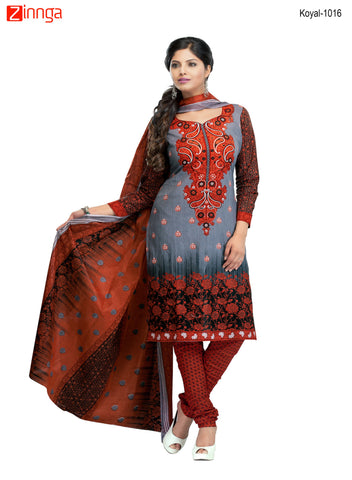 Multi Color Cotton  Stitched Salwar  - Koyal-1016