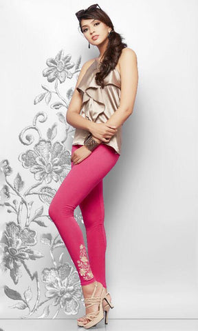Magenta Color Lycra Cotton Legging - LEEMP69