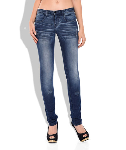 Blue Color Organic Cotton Women Jeans - LEF-CeruleanMid