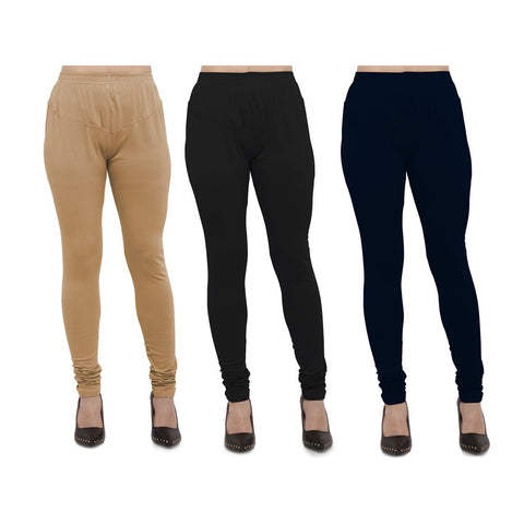 COMBOS-Cotton Lycra Leggings - LEG-CMB-BIG-BLK-NBL
