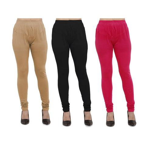 COMBOS-Cotton Lycra Leggings - LEG-CMB-BIG-BLK-RNI