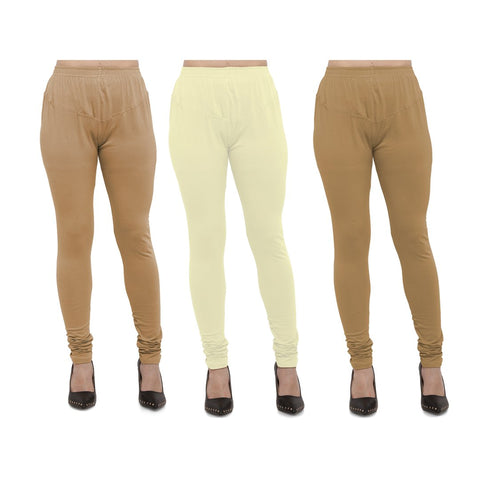 COMBOS-Cotton Lycra Leggings - LEG-CMB-BIG-LYLW-GLD