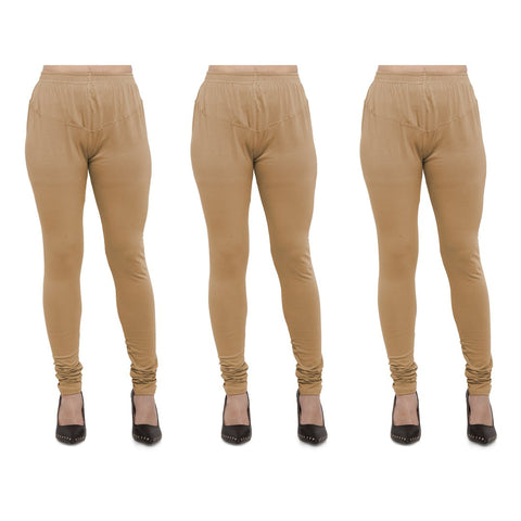 Beige Color Cotton Lycra Legging - LEG-PO3-BIG