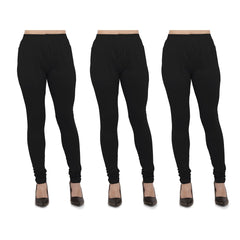 Buy Black Color Cotton Lycra Legging