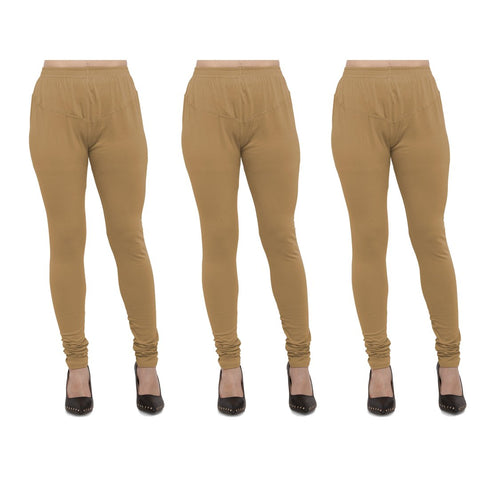 Gold Color Cotton Lycra Legging - LEG-PO3-GLD