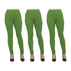 Buy Light Green Color Cotton Lycra Legging
