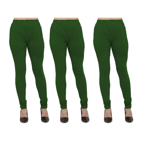 Mahendi Color Cotton Lycra Legging - LEG-PO3-MHD