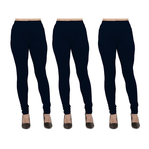 NavyBlue Color Cotton Lycra Legging - LEG-PO3-NBL