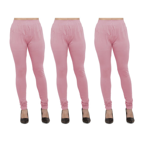 Pink Color Cotton Lycra Legging - LEG-PO3-PNK