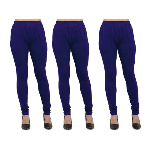 RoyalBlue Color Cotton Lycra Legging - LEG-PO3-RBL
