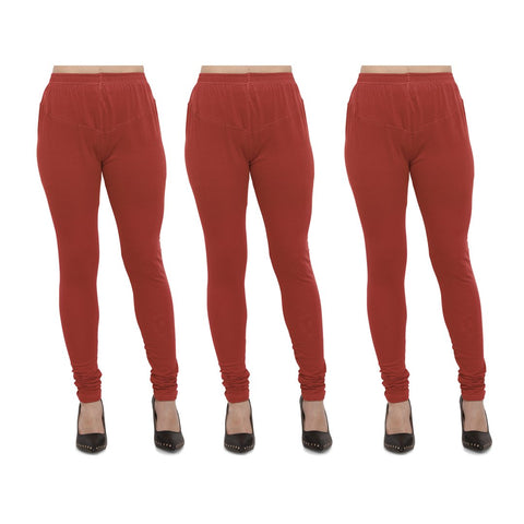 Rust Color Cotton Lycra Legging - LEG-PO3-RST