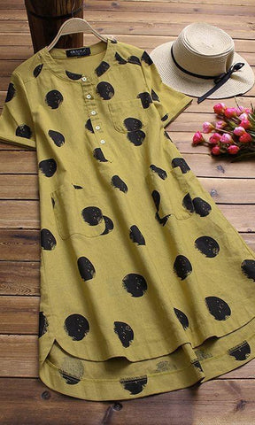 Yellow Color Poly Riyon Women's Kurti - LEMON-YELLOW