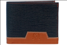 Black Color Velvet Men's Wallet - LEVIII