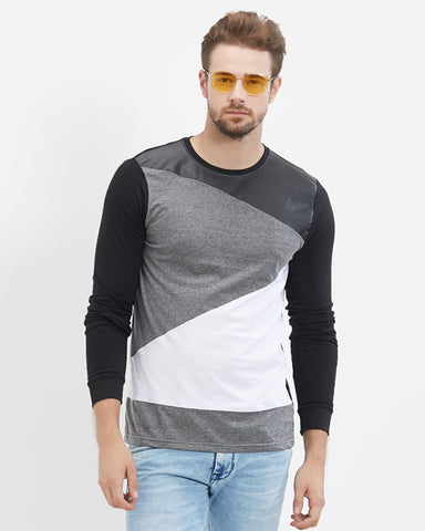 Black Color Cotton Men T-Shirts-LEWEL14