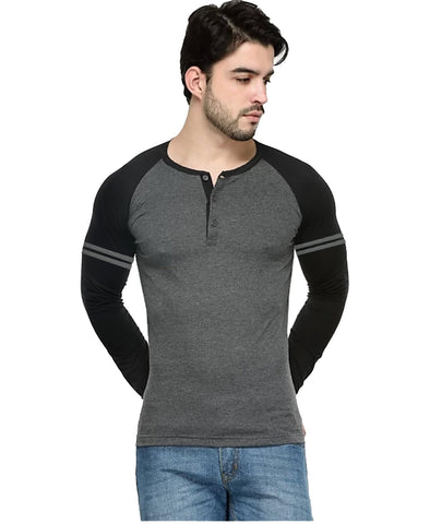 Grey Color Cotton Men's Tshirt - LEXCORP-9RCMBS