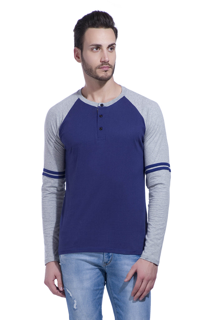Buy Navy Color Cotton Men's Tshirt
