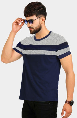 Navy Color Cotton Men's Tshirt - LEXCORP-HSL31NGS