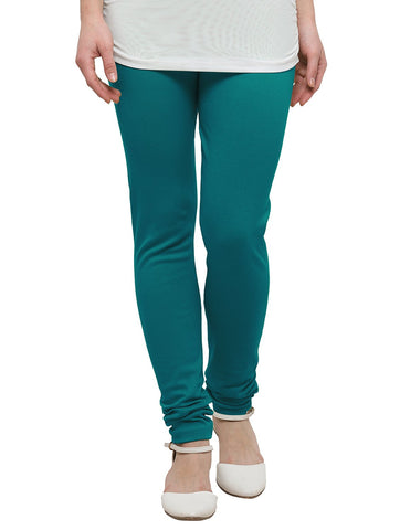Teal Green Color Cotton Legging - LGC716Top