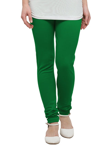 Green Color Cotton Legging - LGC734-Top