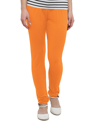 Orange Color Cotton Legging - LGC737-Top
