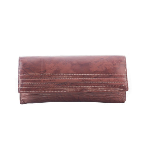 Brown Color Leather Womens Wallet - LI30