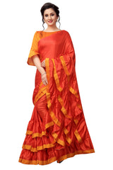 Buy Red Color Paper Silk Saree