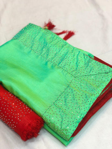 Green Color Sana Silk Saree - LL001725
