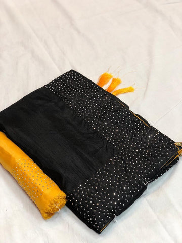 Black Color Sana Silk Saree - LL001726