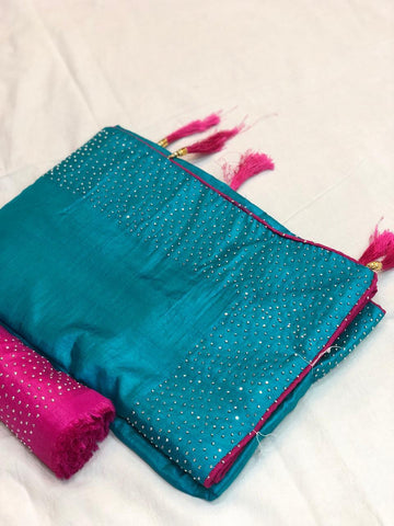 Rama Color Sana Silk Saree - LL001727