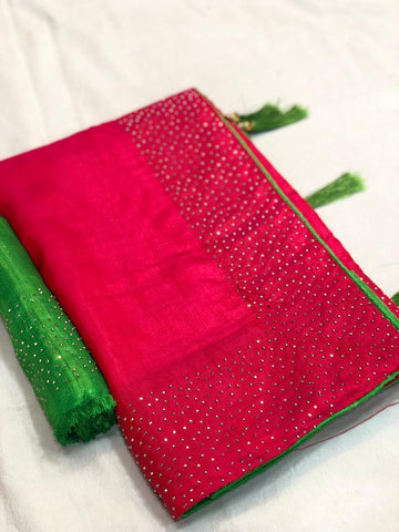 Pink Color Sana Silk Saree - LL001728