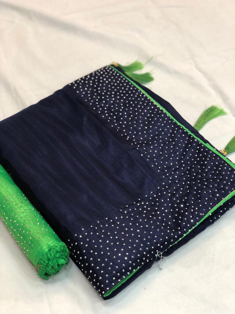 Buy NavyBlue Color Sana Silk Saree