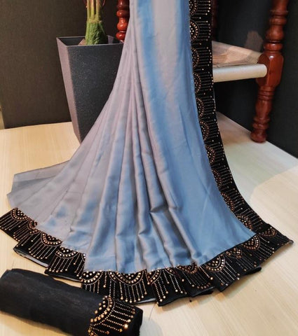 Blue Color Rangoli Saree - LL001872