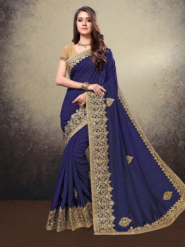 Blue Color Silk Saree - LO91150-A