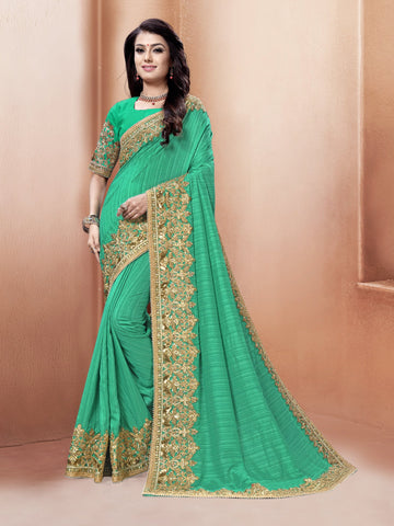Green Color Silk Saree - LO91151-G