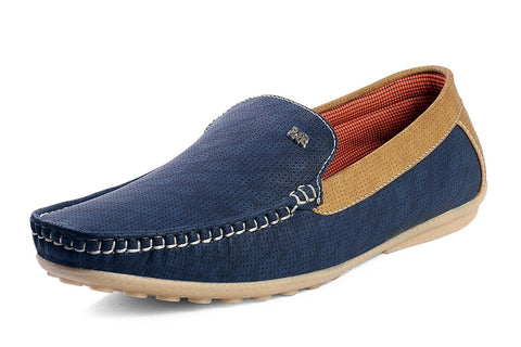 Blue Color Canvas  Men Shoe - LOFBLUE