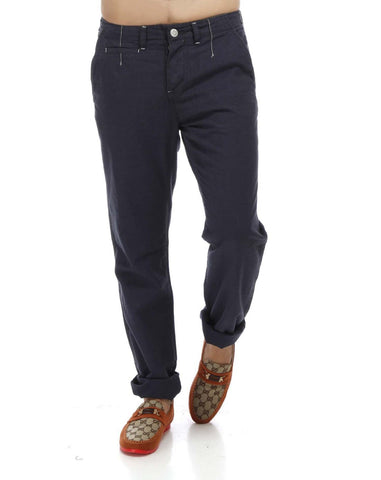 Blue Color Organic Cotton and Bamboo Men Trouser - LP-OxfordBlue