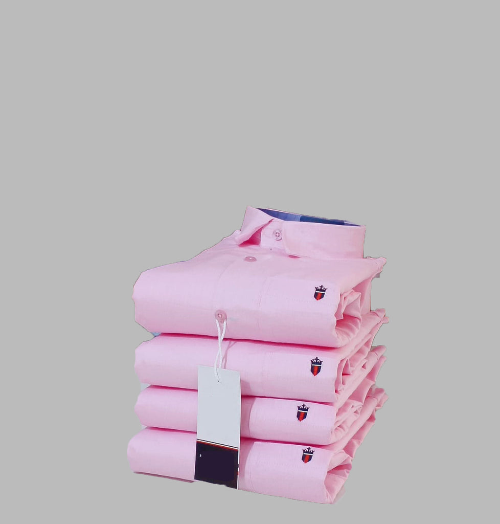 Light Pink Color Premium Stuff Cotton Men's Solid Shirt - 20190712-WA0017
