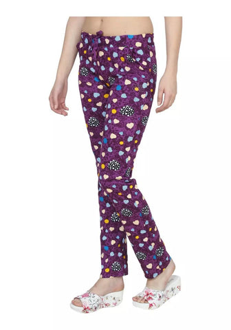 Purple Color Cotton Women Track Pant - LS-DL-PURPLE