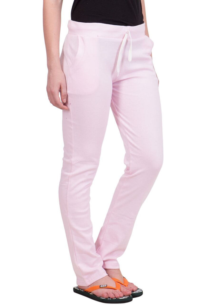 Buy Pink Color Cotton Women Lower