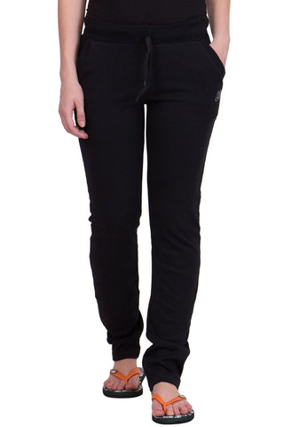 Black Color Cotton Women Track Pant - LS-L-BLACK