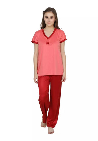 Orange Color Cotton Women Nighty - LS-NST-ORANGE