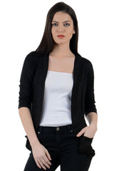 Buy Black Color Viscose Womens Shrugs
