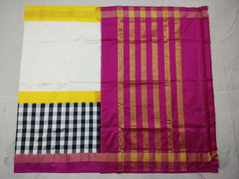 Multi Color Ikat Silk PochamPally Saree - LS-WA0024