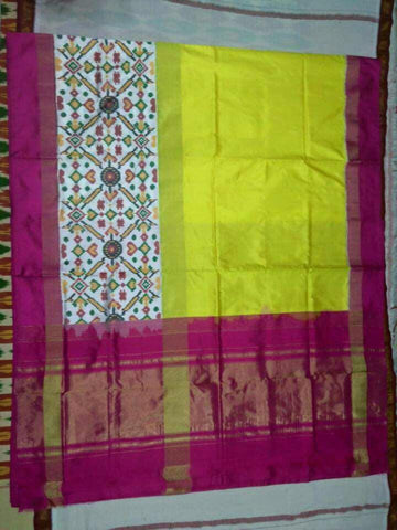 Multi Color Ikat Silk Pochampally Saree - LS-WA0033