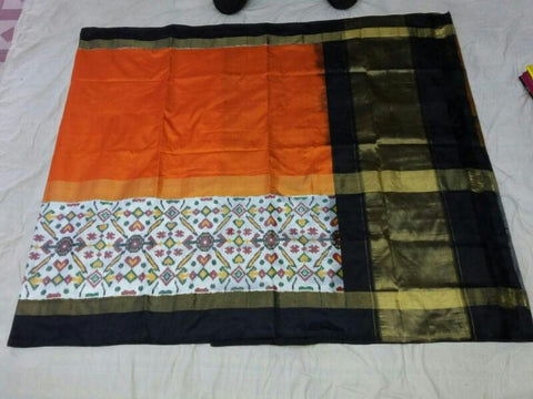 Multi Color Ikat Silk Pochampally Saree - LS-WA0034