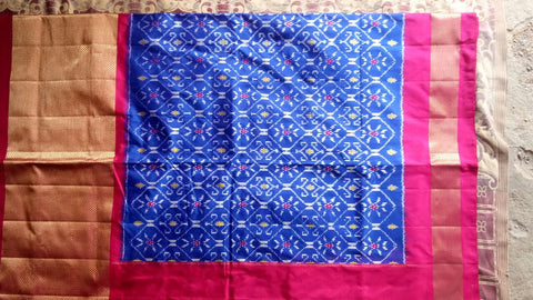 Multi Color Ikat Silk Pochampally Saree - LS-WA0046